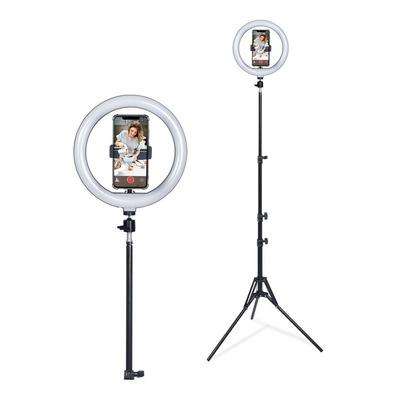 Lampara Aro Luz Led Tripode De Pie P-26 Bluetooth Selfie