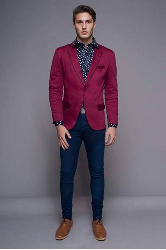 ... comprar Saco Blazer Slim Fit Entallado + Camisa Slim Fit Entallada ... 13b4abbd20c