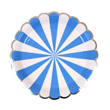 Platos Stripe Azul Grandes