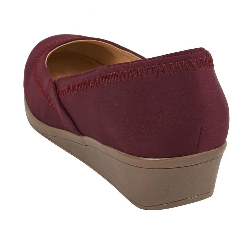 Zapatilla plataforma vino 016659