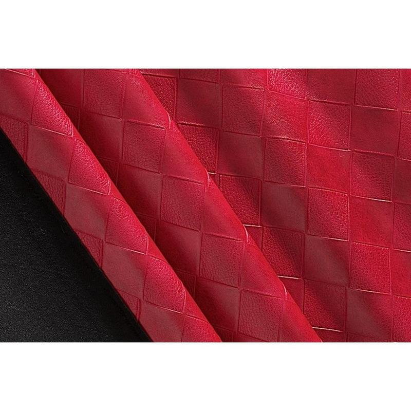 Tecido couro sintético fit tress vermelho cleveland