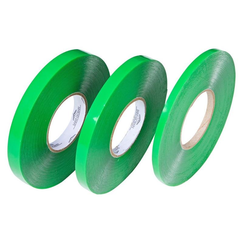 Fita dupla-face silicone verde 19 x 20 x 1mm