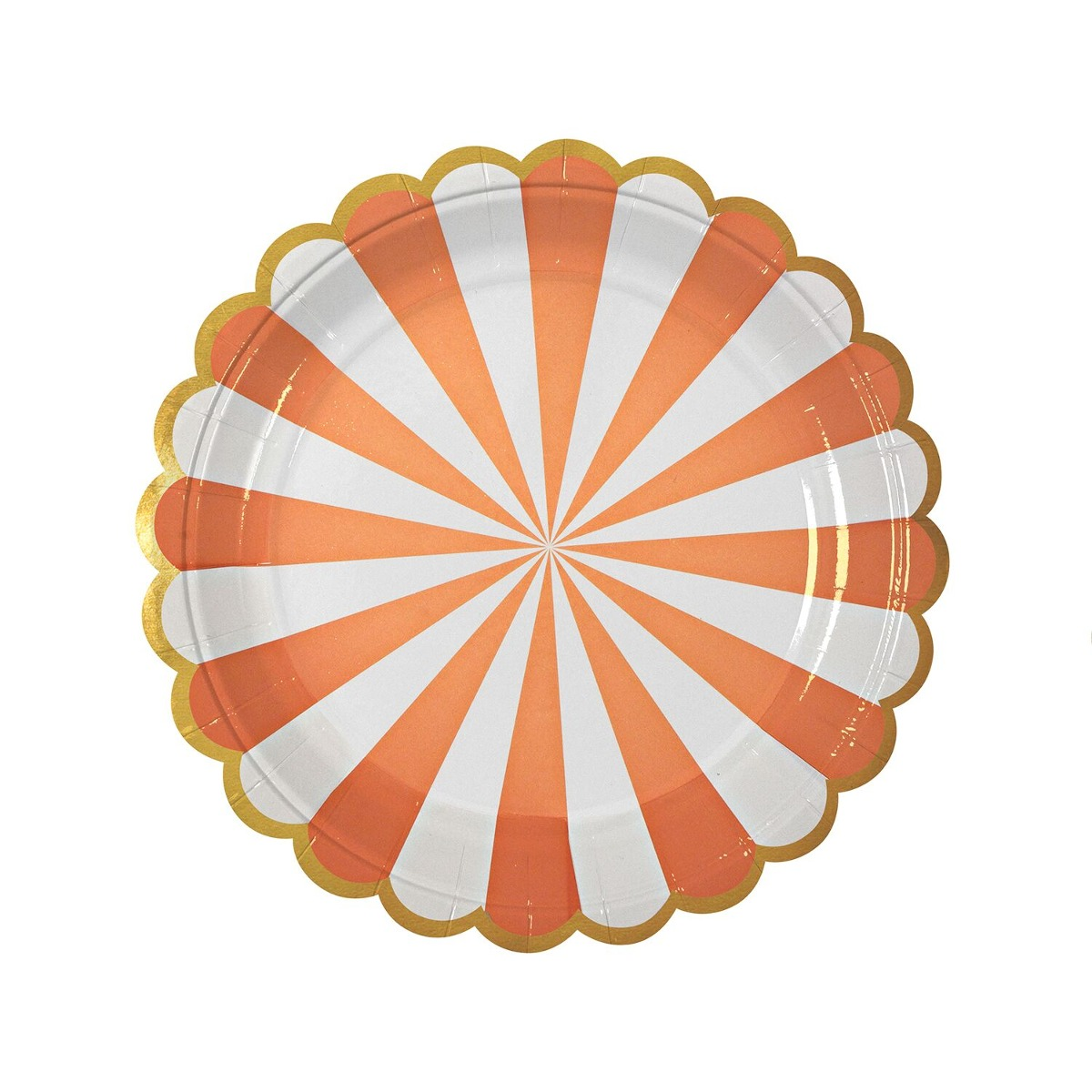 Platos Stripe Naranjas Grandes halloween