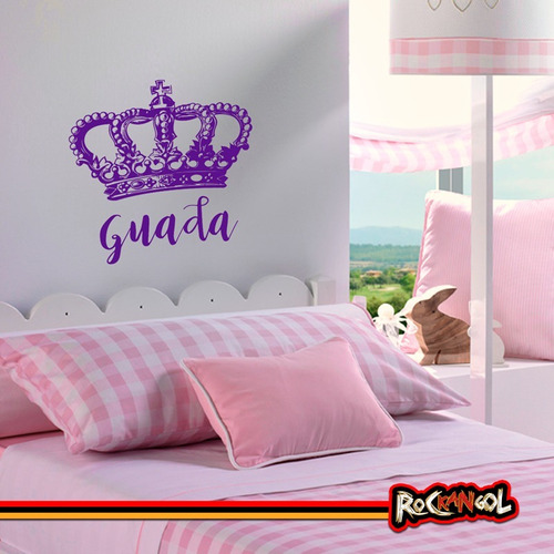 Vinilos Decorativos Corona Princesas Reina Nombre En