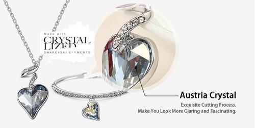 951aef5d6bf5 Collar Dije Y Pulsera Love Corazon Swarovski Elements en venta en ...