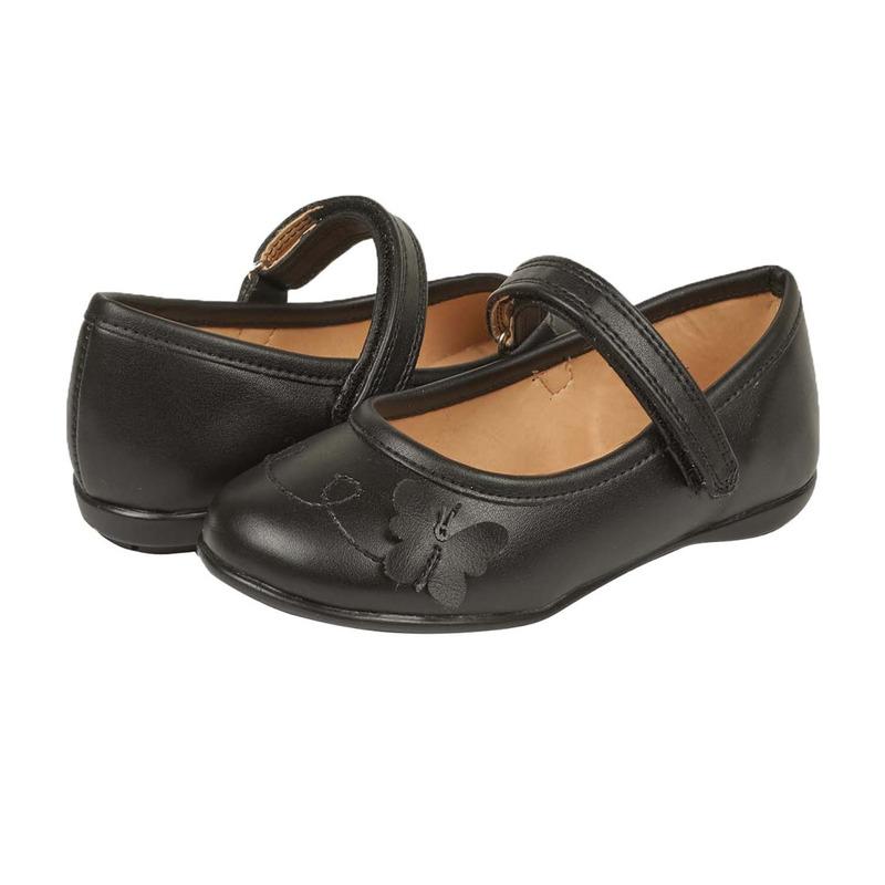 Flats negros con mariposas 018684