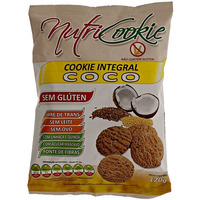 NutriCookie Integral de Coco Sem Gluten - 120g - NutriPleno
