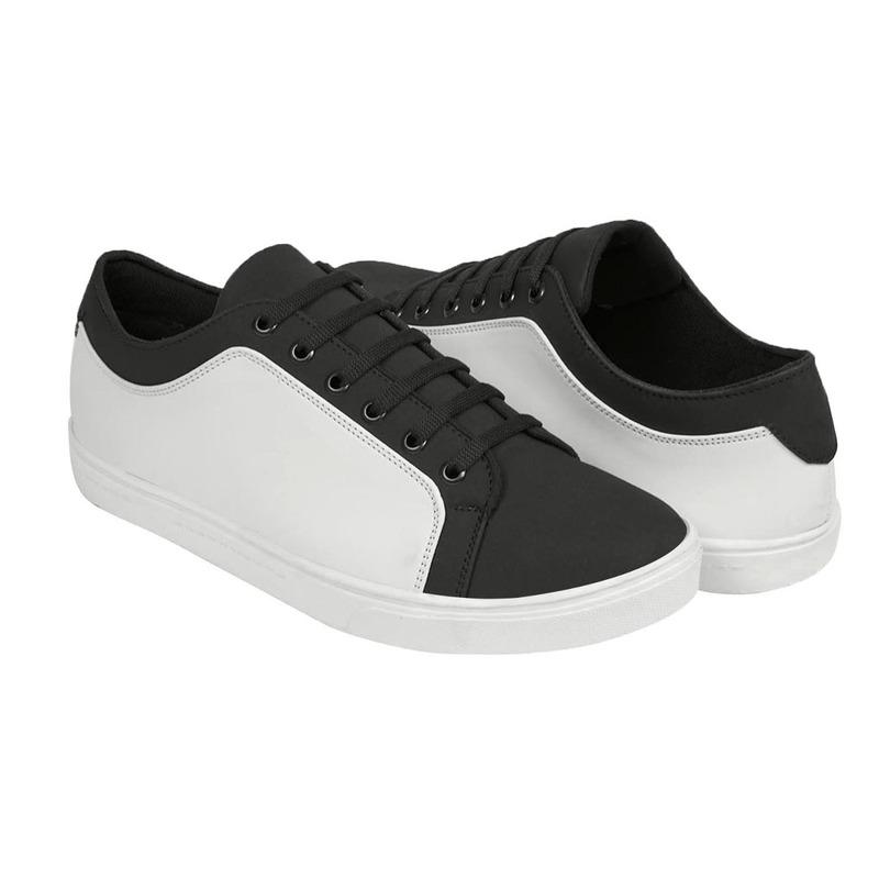 Sneakers bicolor blanco negro 018865