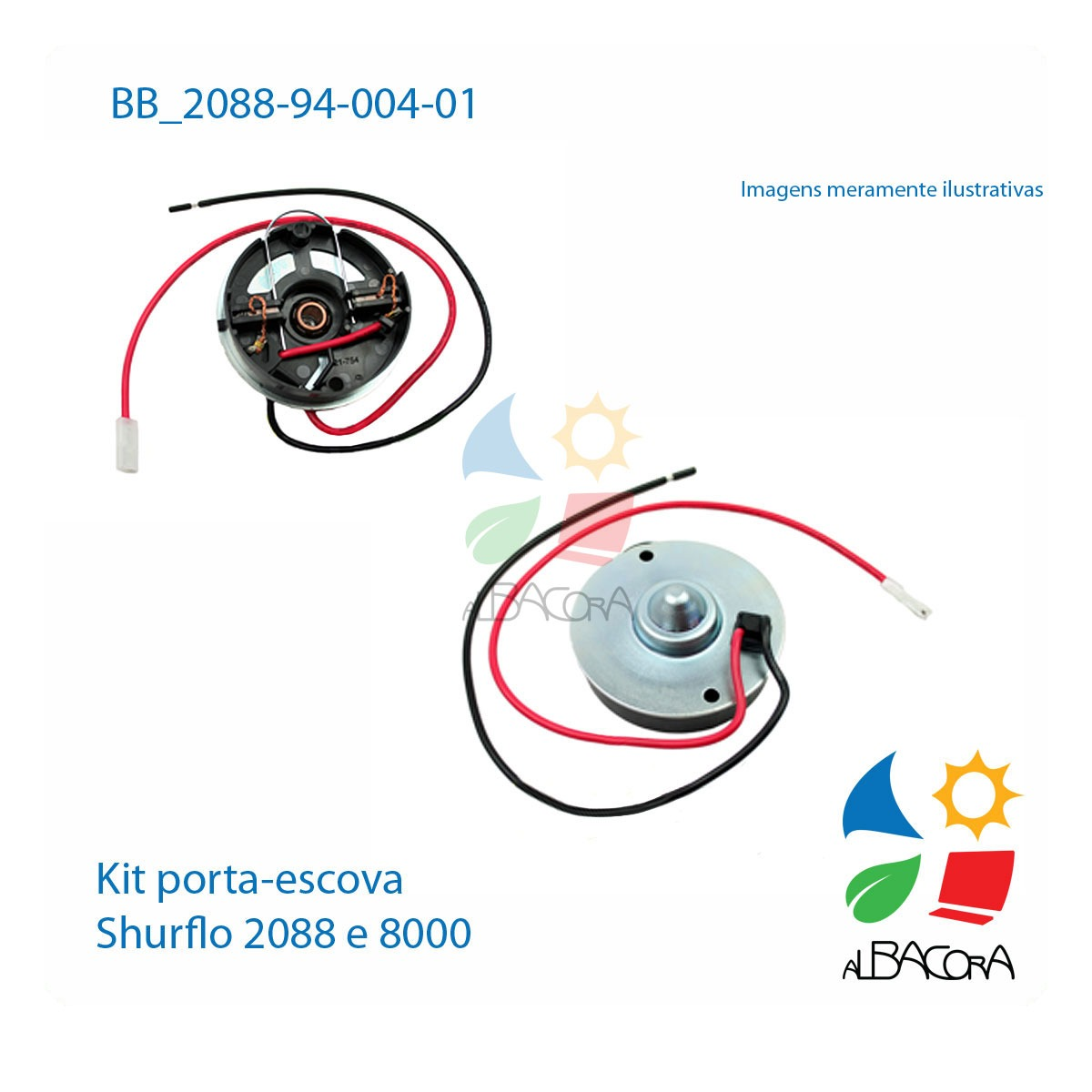KIT TAMPA PORTA ESCOVA SHURFLO  2088 E 8000 94-004-01