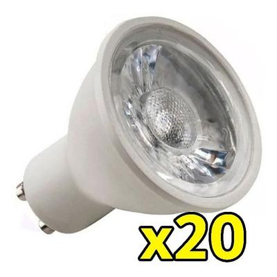 Pack X 20 Lamp Dicroica Led 7w 220v Gu10 Eficiencia Calidad