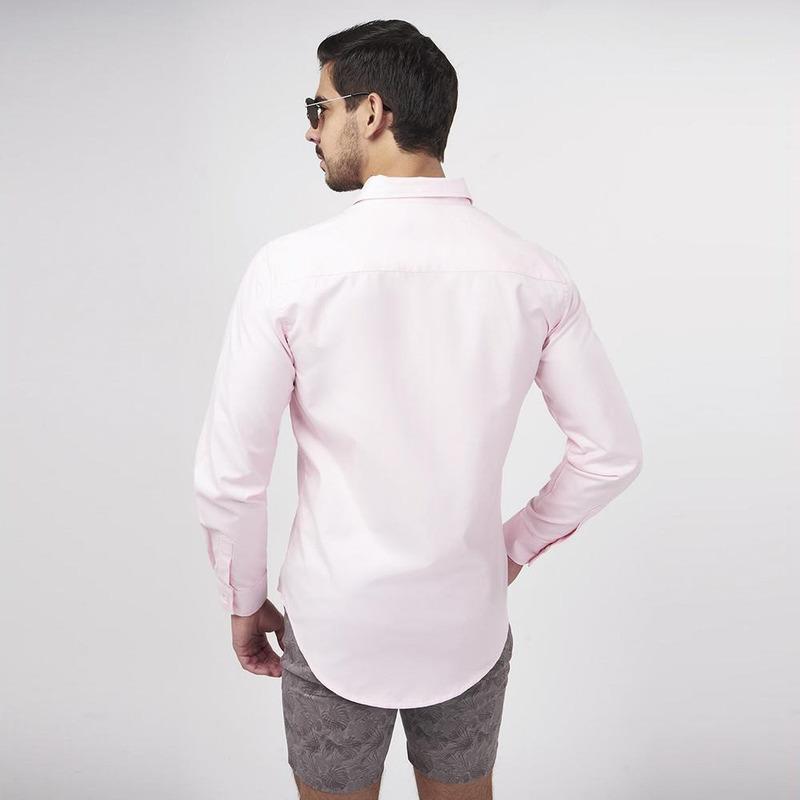 Camisa Rosa De Manga Larga 019271