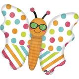 globo mariposa playera 1 mts desinflado apto helio