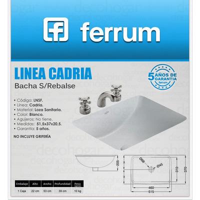 Bacha ferrum cadria de bajo poner s rebalse lnsf for Mochila para inodoro ferrum