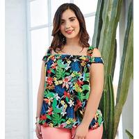 Blusa multicolor estampada 015475P