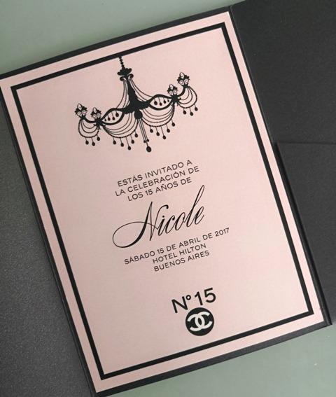 Invitación 15 Años Tq058 Chanel Brides Amp Smiles