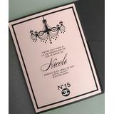 Invitación 15 años TQ058 (Chanel)