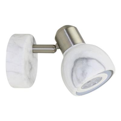 Aplique 1 Luz Carrara Apto Led Gu10 Marmol Deco Moderno Cie