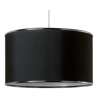 Colgante Pantalla 30cm 1 Luz Con Virola Cromo Deco Moderno