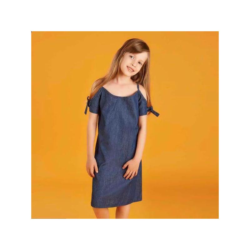Vestido mezclilla hombro descubierto 015631