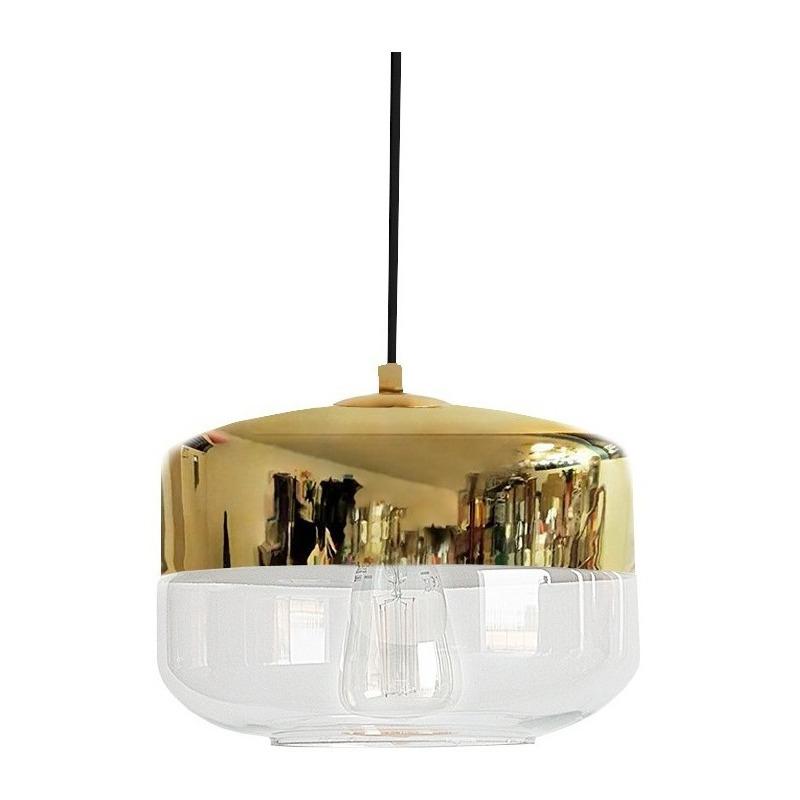 Colgante Cristal Dayan 1 Luz Oro Deco Moderno Apto Led Cie
