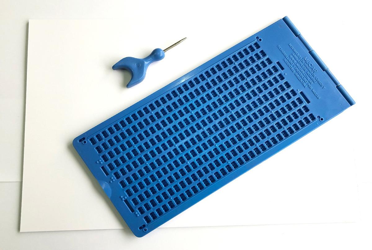 KIT Braille: Pizarra + Punzón + 20 hojas A4 180gr