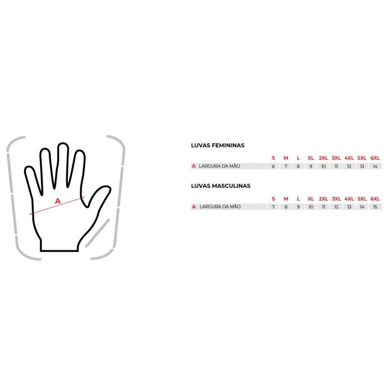 Luva Texx Flash Touch Finger Vermelha