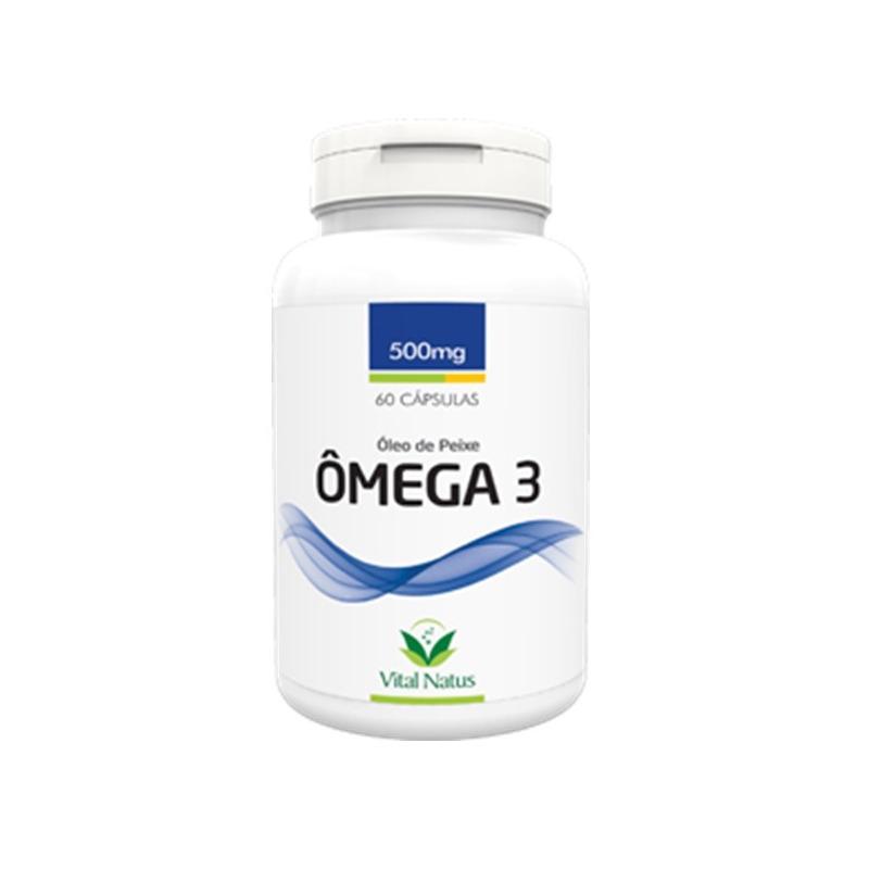 Omega 3 - Oleo de Peixe - 60 Capsulas de 500mg - Vital Natus