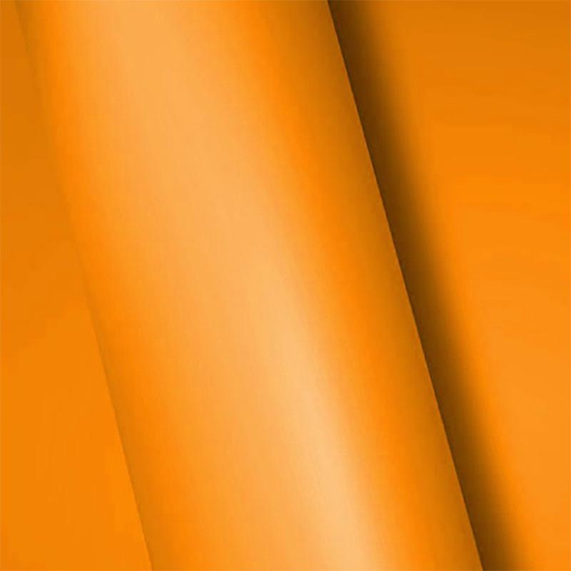 Adesivo para envelopamento fosco laranja  larg. 1,38 m