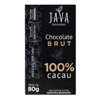 Chocolate Brut 100% Cacau - 80g - Java