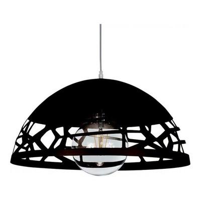 Colgante Semi Esfera Calado Oviedo Negro Deco Moderno Sf