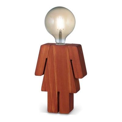Velador Mm 1 Luz E27 Mujer Algarrobo Brazos Moviles 27cm