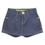 Short Saia Jeans Bebê Puramania