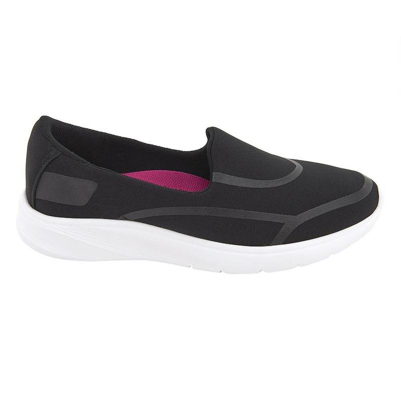 Sneakers Negros Con Franjas 020291