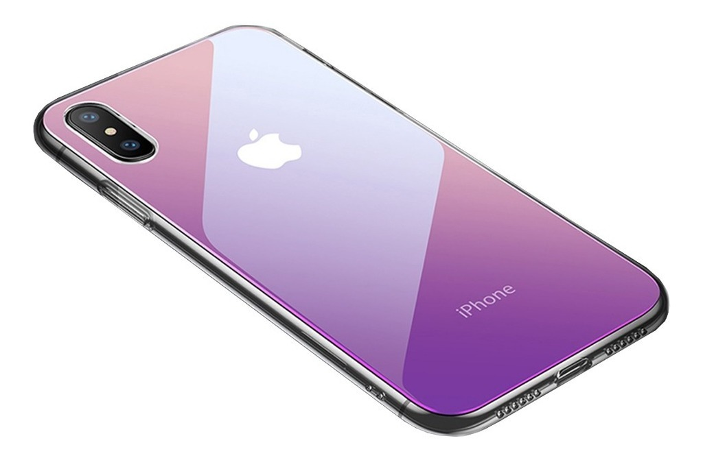 FUNDA IPHONE XS MAX CAFELE TORNASOLADA VIOLETA