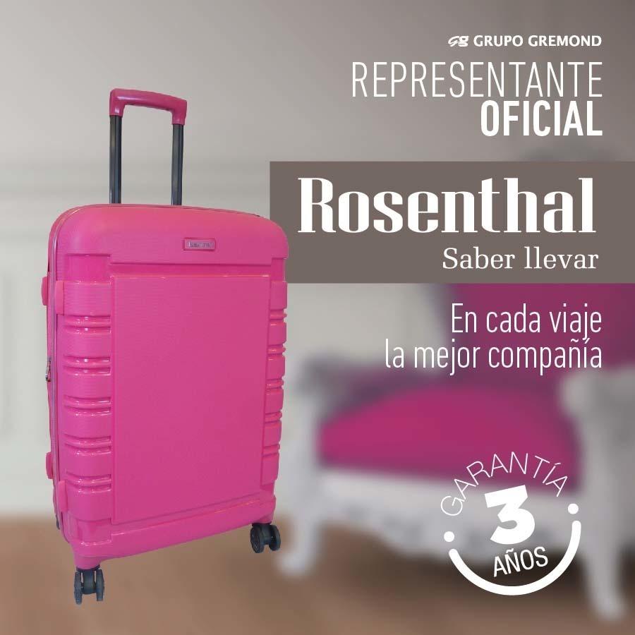 Valija Rosenthal Set Cabina Y Grande Semirrigida Candado Tsa