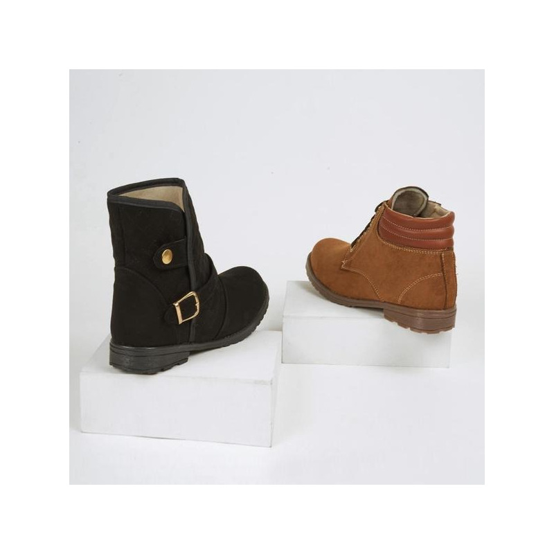 Combo botas negro y café 016476