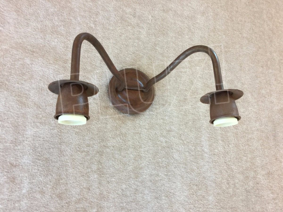 Aplique Pared Doble 2 luces- Hierro óxido