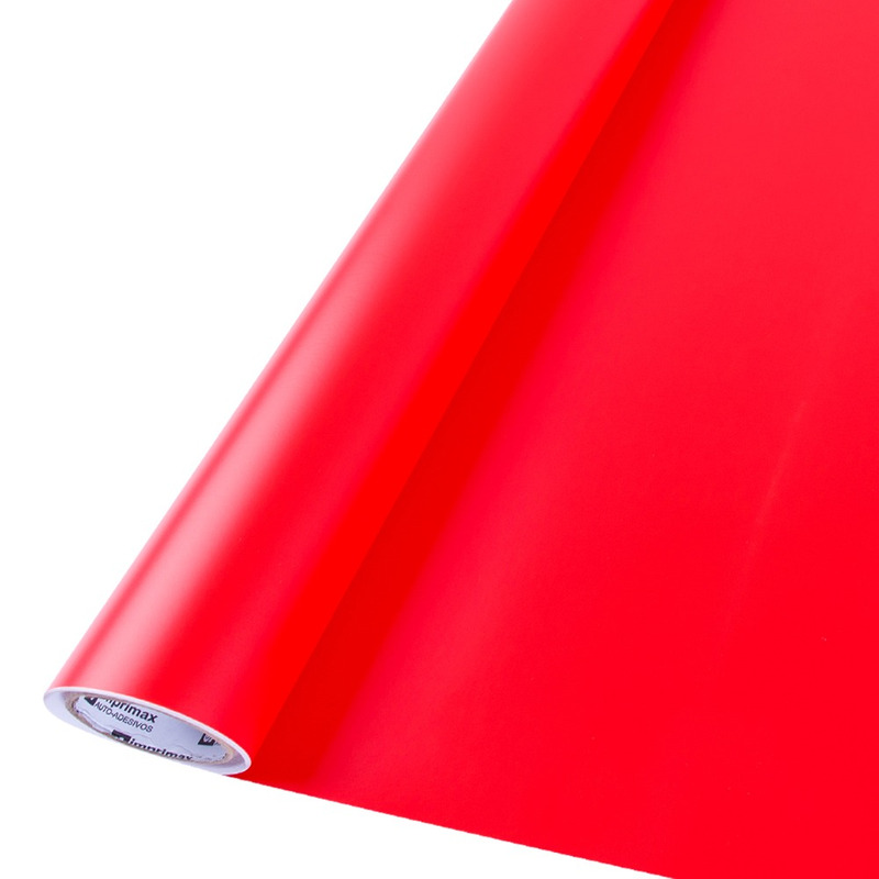 Vinil adesivo maxlux vermelho vivo translúcido larg. 1,22 m