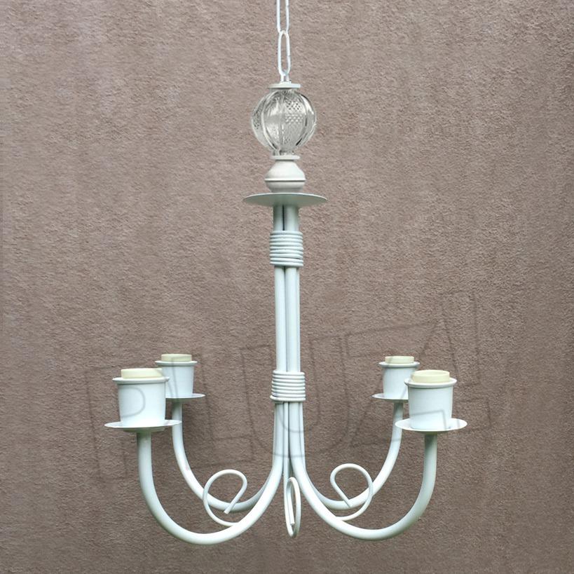 Lámpara Colgante Araña Chica 4 Luces con bo...