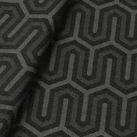 Tecido jacquard para almofada - cinza/preto -  Impermeável - Coleção Panamá
