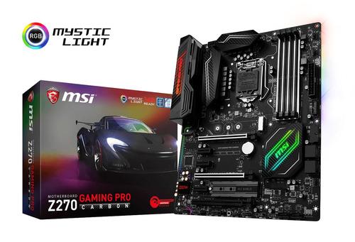 Mother Msi Z270 Gaming Pro Carbon Sli M2 Ddr4 Usb3.1 Rgb