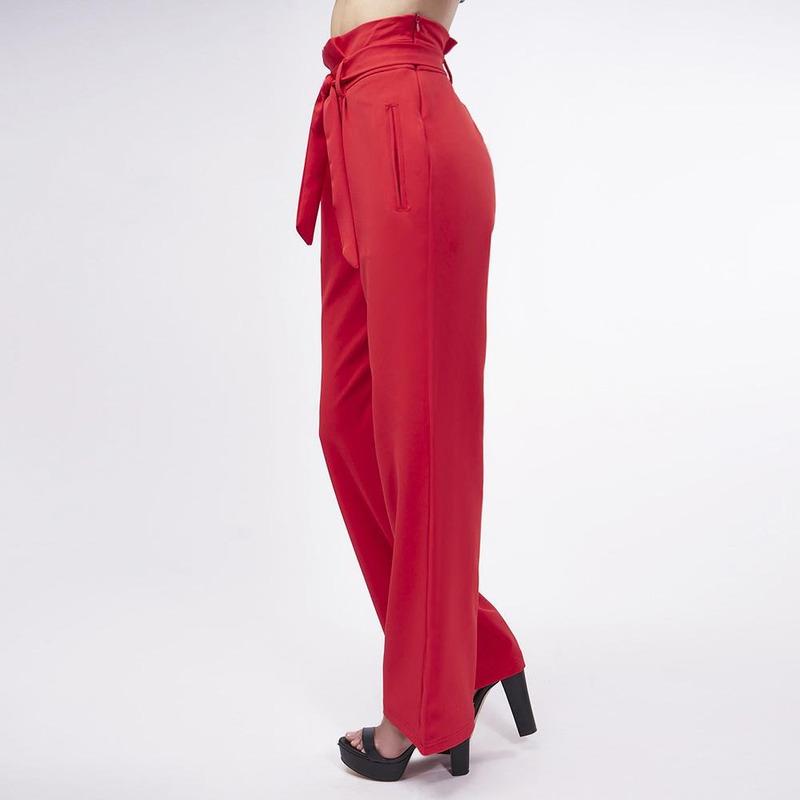 Pantalón Rojo Con Liston 019540