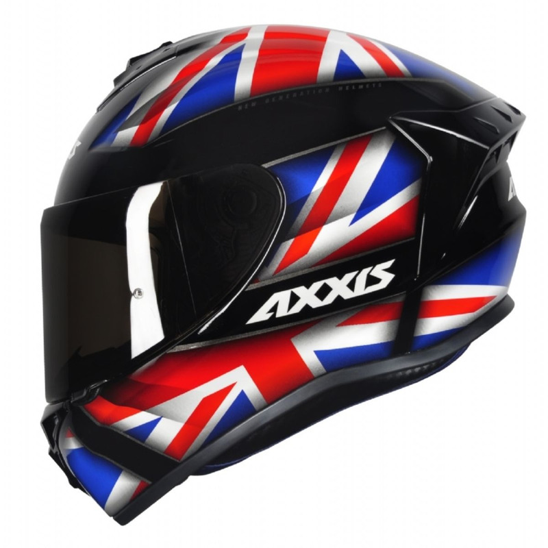 Capacete Axxis Draken UK Gloss Vermelho Azul