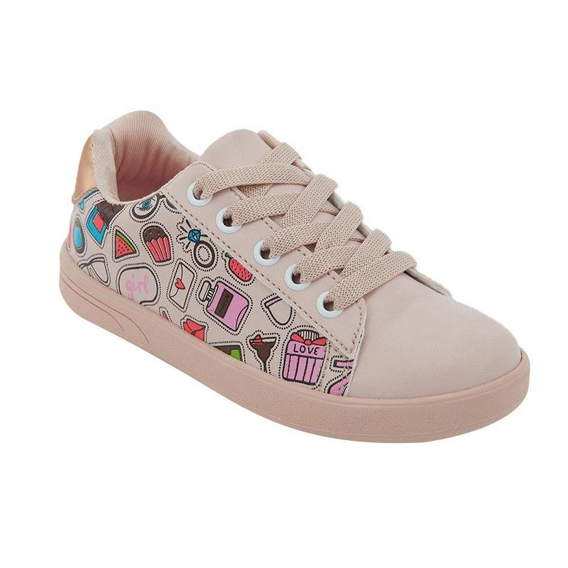 Sneakers Rosa Con Detalles Multicolor 014725