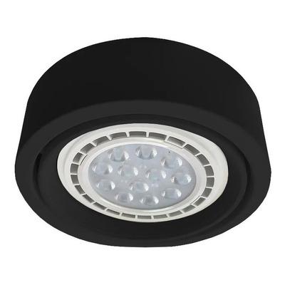 Plafon Spot Ar111 Negro Semiembutido Apto Led Luz Desing
