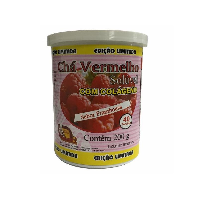 Cha Vermelho Colageno Sabor Framboesa 200g Mosteiro Devakan