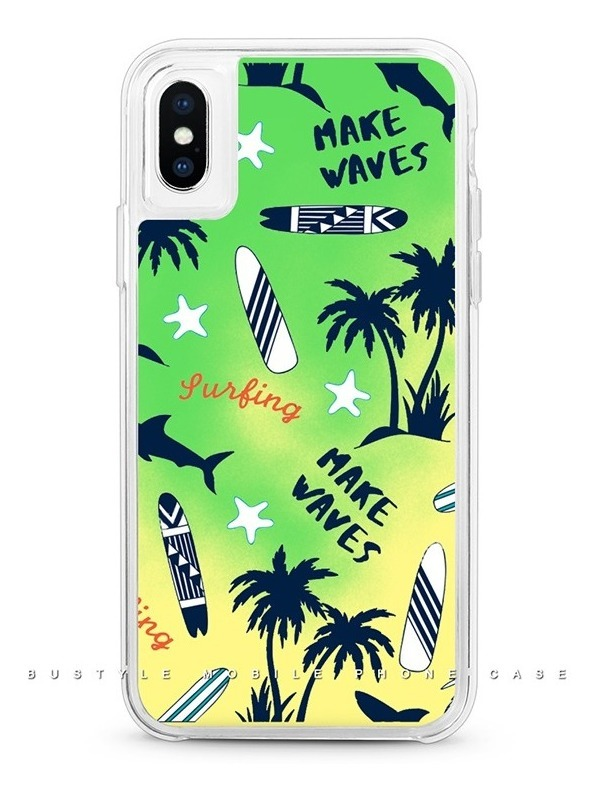 FUNDA NEON GLITTER IPHONE XS MAX SURFING