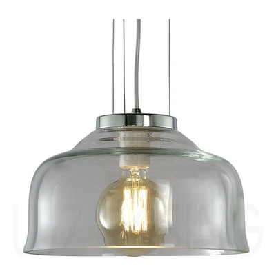 Colgante Vidrio Transparente Vintage Moderno Regulable C-750
