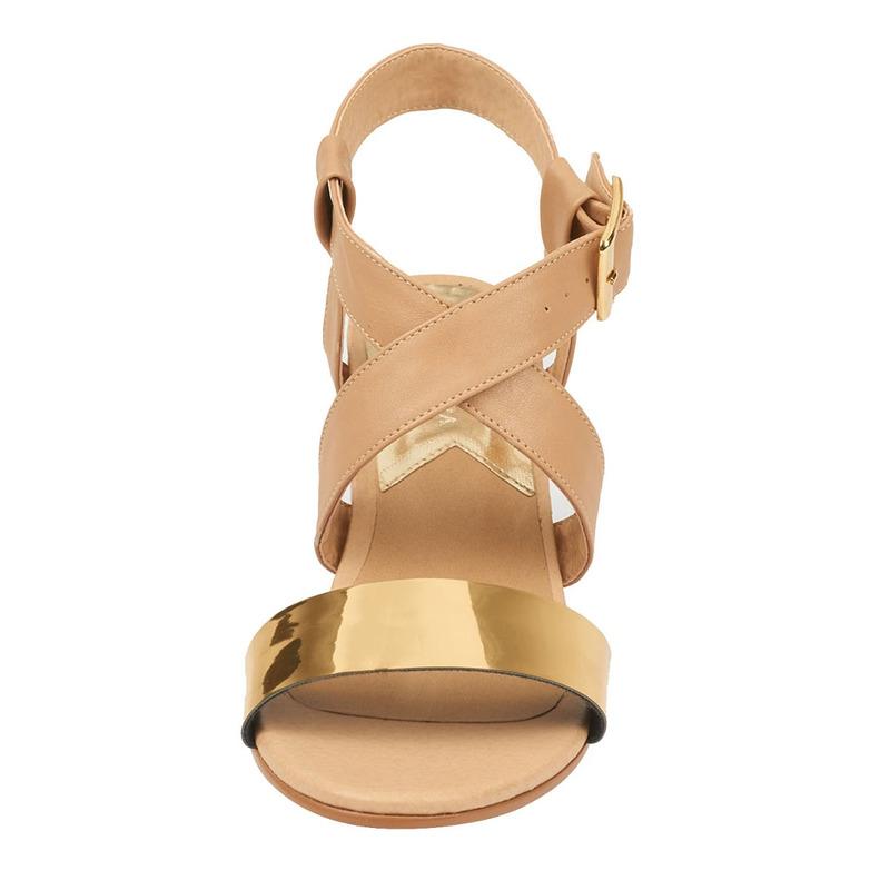 Sandalia tacón pathé dorado  016782
