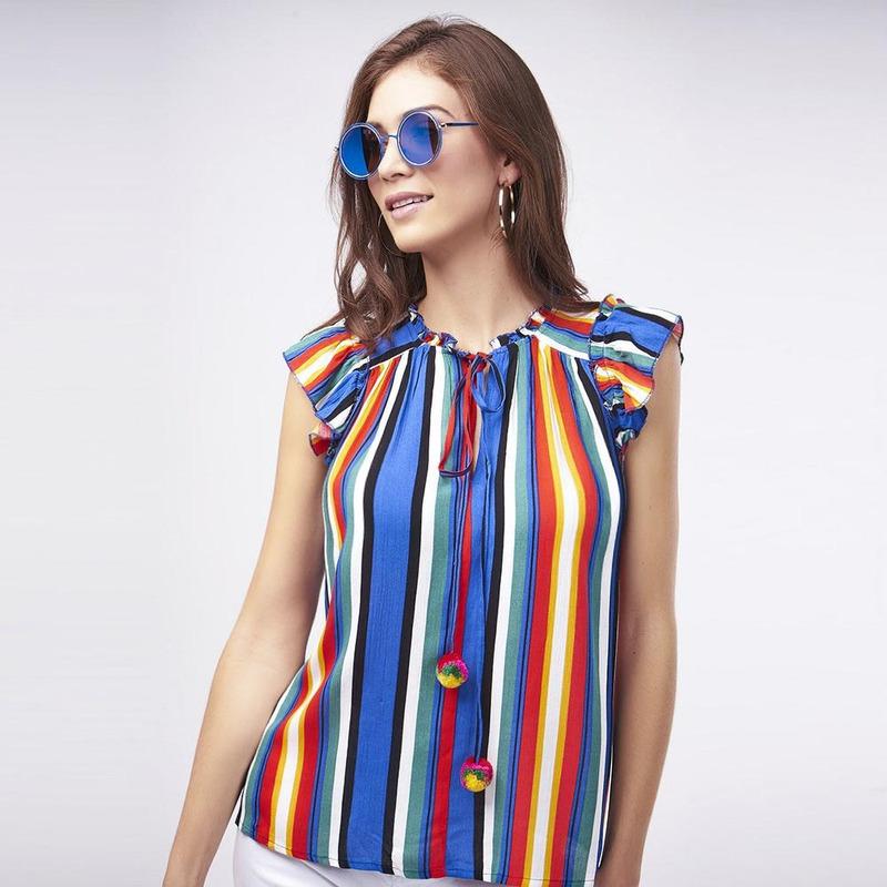Blusa Multicolor A Rayas 017323